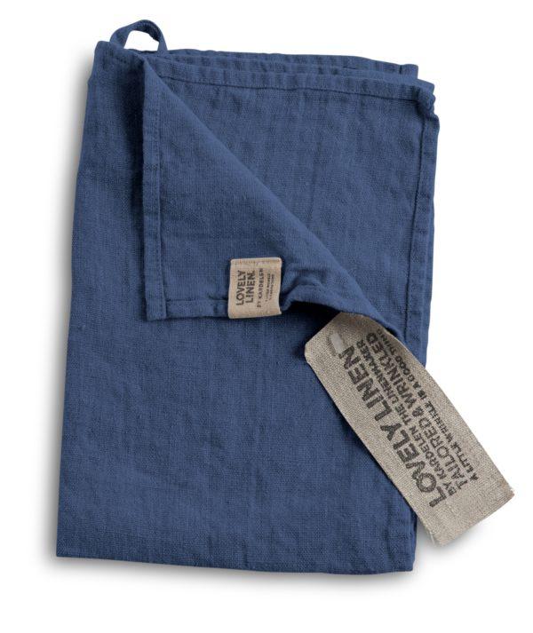 Lovely Linen käsipyyhe farkku