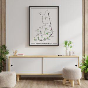 Mijo&Idea Suomen maakuntakukat 50x70cm