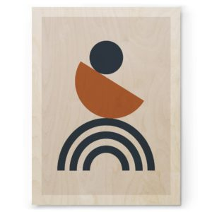 Plywood prints Vanerijuliste Geometria 05 30x40cm
