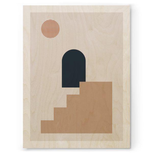 Plywood Print Vanerijuliste Geometria 06 30x40cm