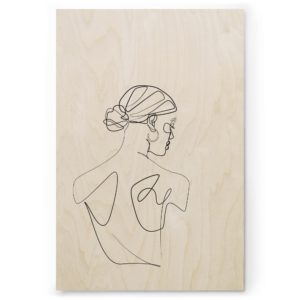 Plywood Print Vanerijuliste Dancer