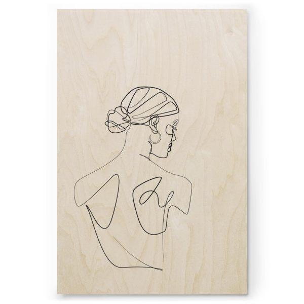 Plywood Print Vanerijuliste Dancer