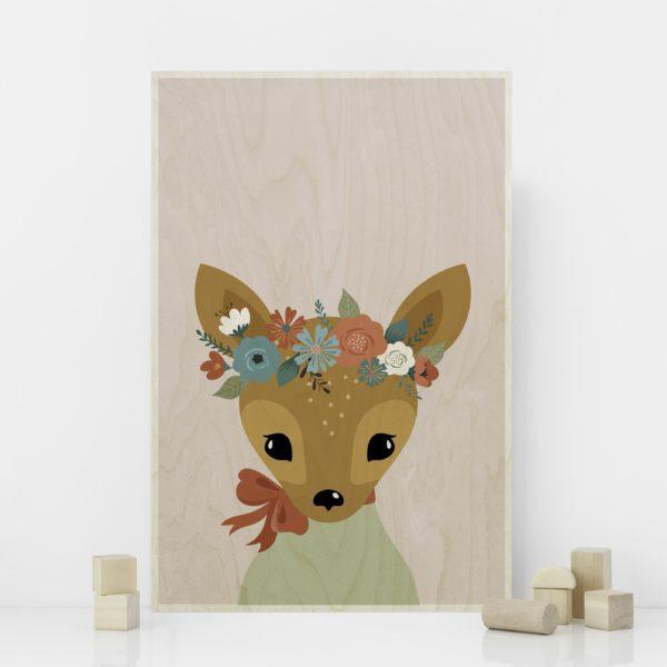 Plywood print vanerijuliste Deer