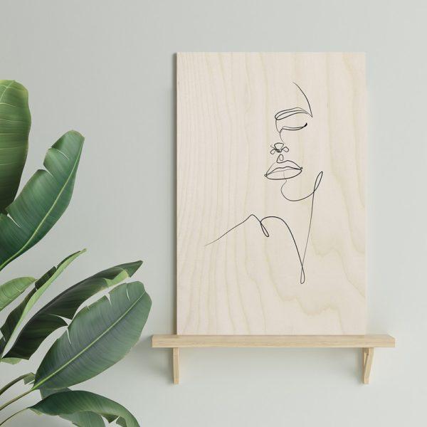 Plywood Print vanerijuliste you 30x40cm