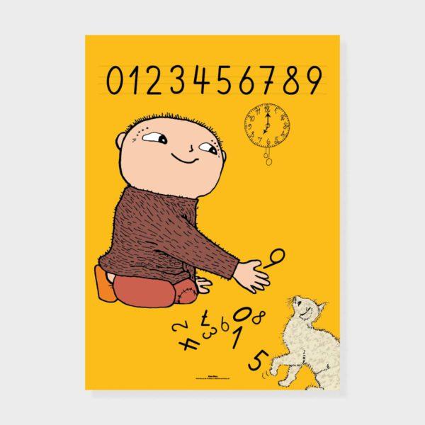 Magic & Prints Juliste Siffror keltainen