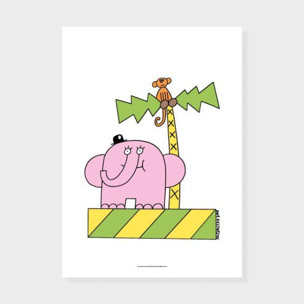 Magic and Prints Elefantti ja apina