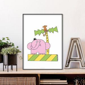 Owe Gustafson Elefantti ja apina A3