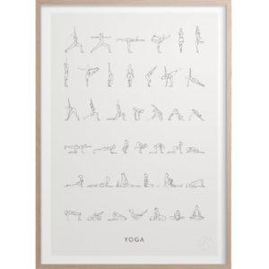 Kunskapstavlan Juliste Yoga 30x40cm